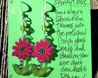 Funky Flora earrings