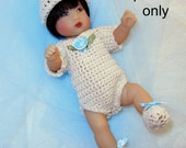 Crochet pattern (PDF) for 5  1/2 to 6-inch baby doll - Basic Layette - for Ellery Kish or polymer clay babies