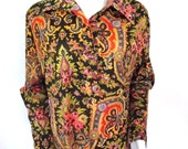 Serbin House Dress Muriel Ryan Lounge Dress Maxi Sz M to Sz L 34 Inch Waist