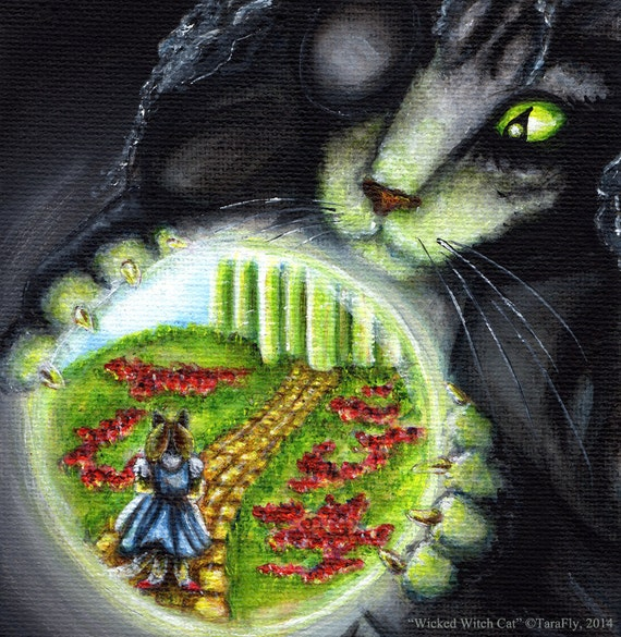 Wicked Witch of the West Cat 5x7 Fine Art Print