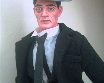 Silent Film version of Buster Keaton OOAK doll