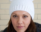 Sweet polar bear crochet hat