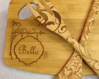 Custom Cheese or Cutting Board | Personalized Monogram