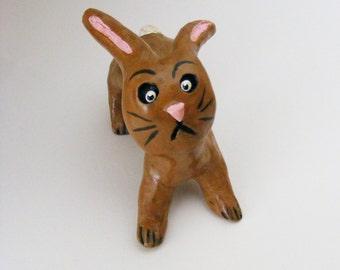 Vintage Style Primitive Folk Art Easter Bunny Rabbit  OOAK
