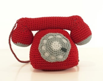 Crochet pattern telephone -  amigurumi telephone pattern - Instant Download PDF by Bigunki
