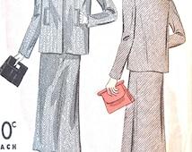 1930s Du Barry Women's Suit Pattern 1961B  Bust 32 inches