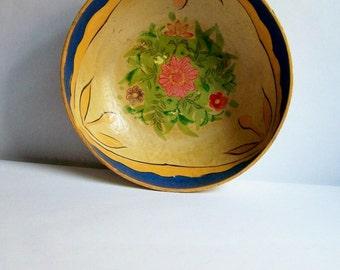 Decorative Vintage Bowl ~ Handpainted ~ Folksy