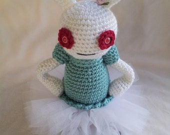Bella the Crocheted Zombie Bunny