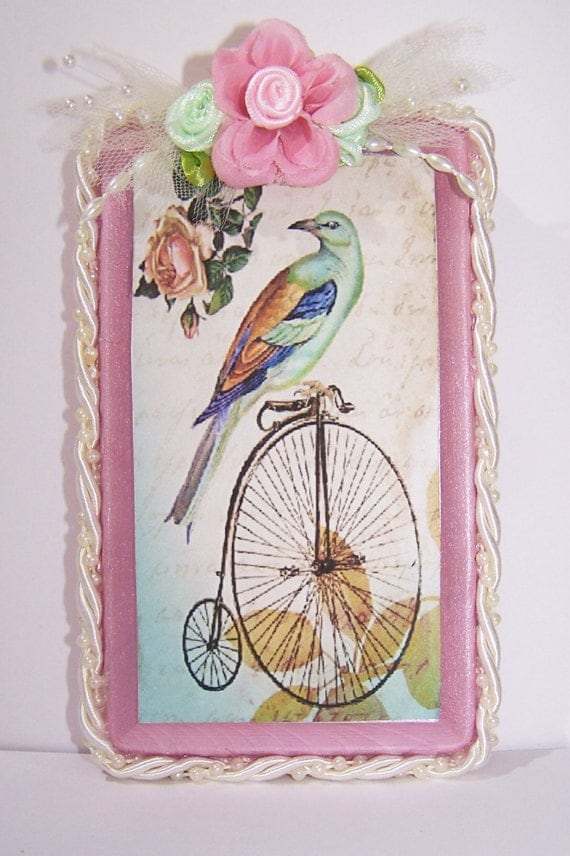 Wall Decor Gifts : Vintage bicycle bird wall decor gifts for her