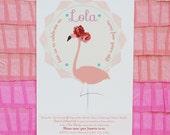 Flamingo Invitation, Digital Printable DIY Invite