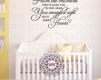 Baby Nursery Vinyl Wall Quote Saying - Sential Wall Poem for Baby Boy or Girl Nursery 22h x 36w CB0003