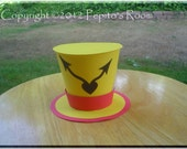 Alice In Wonderland Top Hat Centerpiece - Color Printable PDF- Rabbit's Watch - PR