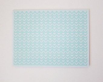 Mint Tiles Print Greeting Card