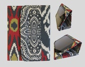 iPad Air 2 Case, iPad Cover Hardcover, iPad Case, iPad Mini Cover, iPad Mini Case, iPad Air Cover, iPad 2 3 4 5 Linen Ikat Style 3