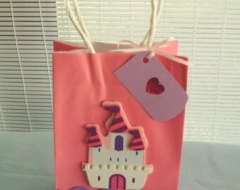 princess favor bag, birthday party favor bag, castle favor