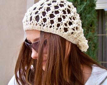 Knit Hat Pattern, Knitting PATTERNS Hats, Knit Slouchy Beanie Pattern, Knit Slouchy Hat Pattern, Womens Hat Pattern, Spring Hat Pattern