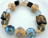 Bead Art Summer Mist Beaded Stretch Bracelet