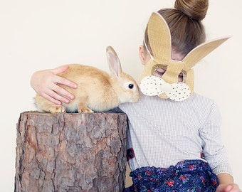 Bunny Rabbit Mask for Children Let's Pretend