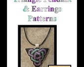 Double Celtic Knotwork Triangle Pendant & Earring Pattern only - INSTANT DOWNLOAD
