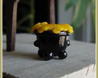 Pot of Gold Lampwork Bead