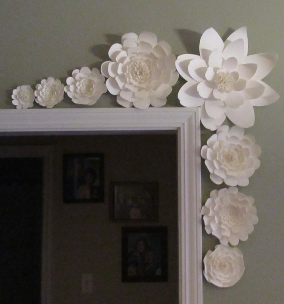 Giant Paper Flowers Wedding: Weddings Large Paper Flowers In The Colors Of Your Choice