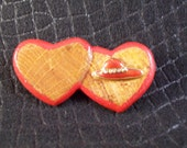 Vintage OOAK Hand Painted Wood Red Hat Pin