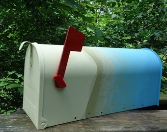 Hand Painted Mailbox - Minimalist Design, Abstract Art Mailbox,  Pick Your Colors!