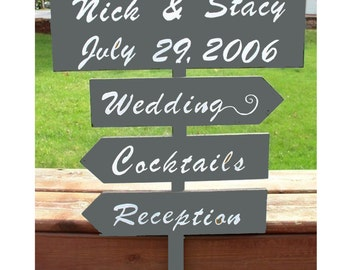 directional sign reception decor wedding sign wood wedding sign custom wedding sign reception sign outdoor wedding wedding photo prop arrow
