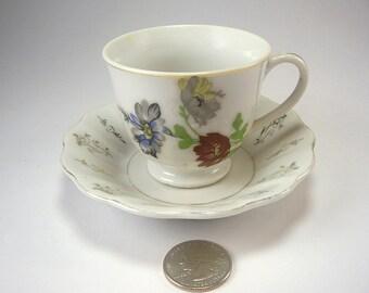Rock City Lookout Mountain, GA Tea Cup and Saucer, Souvenir, Porcelain, Occupied Japan '45 - '52