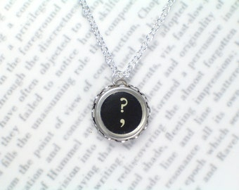 Typewriter Key Necklace With Symbol Key - Typewriter Key Jewelry From HauteKeys
