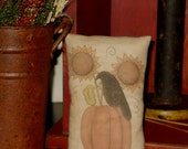 Pumpkin and Crow pillow tuck