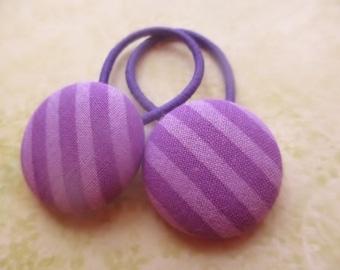 Purple Big Ponytail Holders Pigtail Hair Tie Set of 2