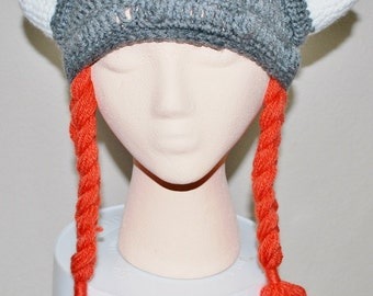 Little Viking Hat - Crocheted with Braids