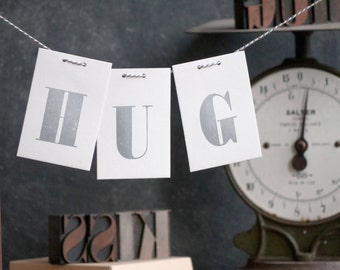 Post a Hug Letterpress Fathers day Card
