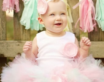 Birthday Tutu Outfit   Pink Dress   Cake Smash   Baby Girl Clothes