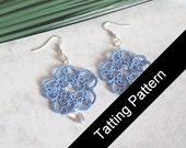 PDF Tatting Pattern Isabella Earrings - Beginner - Instant Download
