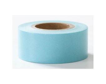Japanese Washi Masking Tape, Blue Solid - Mark's Basic Line / Colorfully Colorful Series, Journal Washi, Planner Supplies, Gift Wrapping