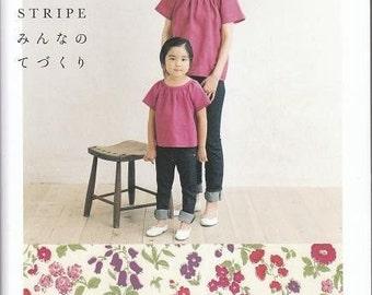 Check & Stripe Sewing Patterns, Kayoko Arita, Japanese Sewing Pattern Book - Liberty Print Fabric Clothing, Easy Sewing Tutorial, B582