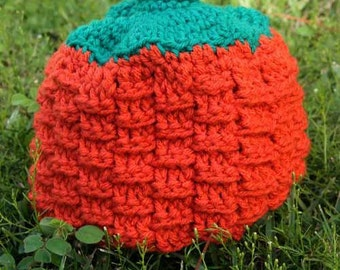 Crochet Pumpkin Hat - Custom Made