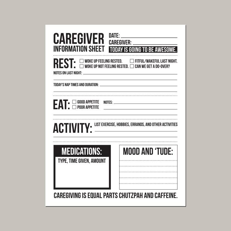 Impeccable image regarding printable caregiver forms
