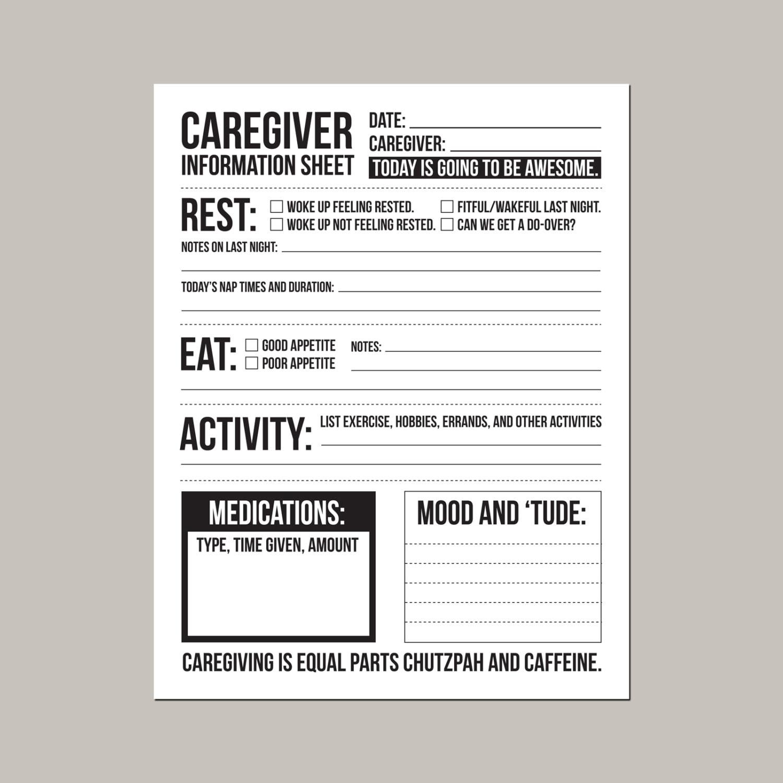 caregiver information sheet for individuals with dementia. Black Bedroom Furniture Sets. Home Design Ideas