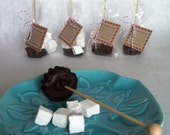 4 Hot Cocoa Sticks with Handmade Vanilla Bean Marshmallows