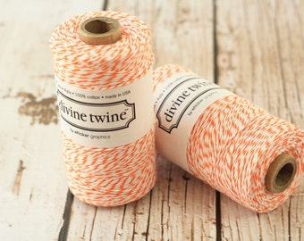 240yds SPOOL ORANGE Divine Twine 4-ply cotton bakers twine string