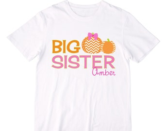 Personalized Pumpkins Big Sister Shirt or Bodysuit - Can be Personalized with ANY Name!