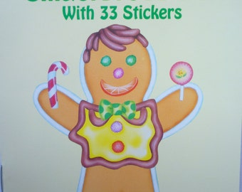 Decorate a Gingerbread Boy, with 33 stickers. Boy and Girl