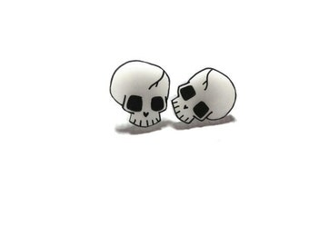 Tiny skull earrings. made to order