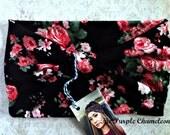 Black Rose Turban WRAPsody Head Wrap Headband Knit Headwrap Pink Rose Turban Floral Turban Spring Fashion Floral Print