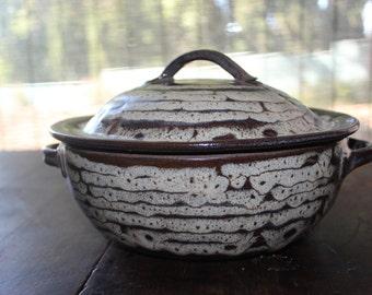 Niels Frederiksen Mid Century Stoneware Casserole Covered Studio Pottery Bowl