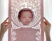 La Meuse - Customizable Baby Announcement Poster