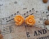 Flower Plugs Gauges Tangerine Orange Roses